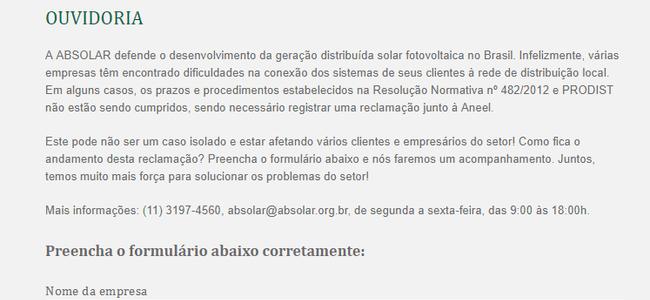 absolar-cria-canal-de-denuncia-contra-distribuidoras-de-energia/